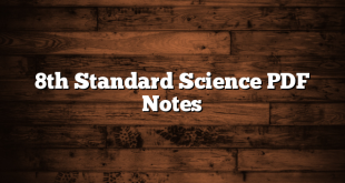 8th Standard Science PDF Notes