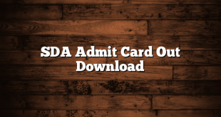 SDA Admit Card Out Download